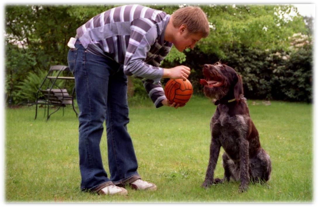 Michel mit Hund